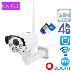 "Owlcat 3516c+1/2.8"" For Sony323 1080p 960p 4x Zoom Auto Focus Ptz Hd Bullet Ip Camera Wireless 3g 4g Sim Card Wifi Outdoor"