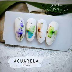 Aqua Nails, Water Color Nails, Beauty Nails, Pop Art, Nail Art, Watercolor, Nail Techniques, Classy Nails, Water Colors