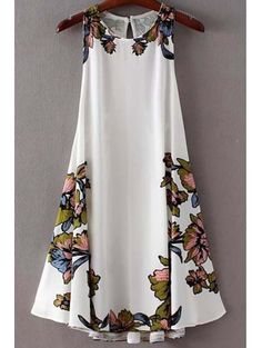 SHARE & Get it FREE | Floral Swing Lace Up Dress - WhiteFor Fashion Lovers only:80,000+ Items • New Arrivals Daily Join Zaful: Get YOUR $50 NOW!