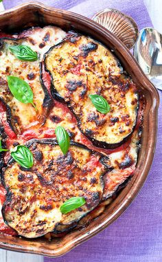 Eggplant Parmesan Pasta Bake