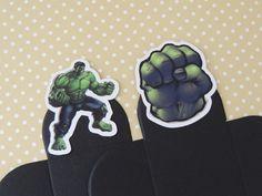 Forminha para doces personalizada com o tema Hulk.  Vc pode escolher a cor das forminhas e os itens desejados.  Tamanho: 3,5 x 3,5cm (fundo)