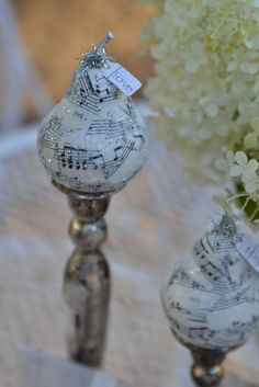 pears... with old sheet music