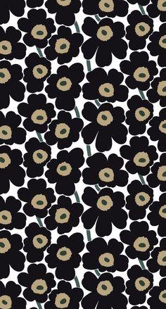 Pieni Unikko cotton canvas fabric by Marimekko Canvas Fabric, Cotton Canvas, Textures Patterns, Print Patterns, Modern Wallpaper Designs, Marimekko Fabric, Graphic Wallpaper, Pattern Illustration, Blue Fabric