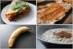 Aquela mousse de manga cheia de proteina :) Video da receita aqui Pão Thins com ovos mal cozidos Video dos ovos aqui O Café. sem açúcar :) Pancake mix Video da receita aqui Eu gosto do formato em c...