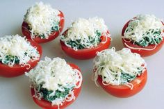 Creamy Spinach-Stuffed Tomatoes