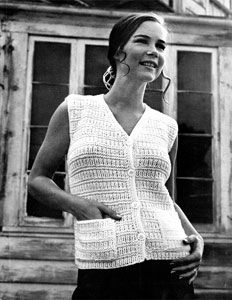 Knitting Pattern Ladies Sleeveless Cardigan : 1000+ images about knitted sweaters on Pinterest Cardigan pattern, Vests an...