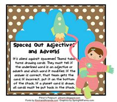 Free! Space Theme Adjective & Adverb Sorting game!