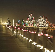 Christmas Lights At The Beach Drive On The Boardwalk To