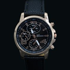 >> Click to Buy << New! Hot Sales 2015 New Men's Women's Geneva Irregularity Faux Leather Analog Quartz Dress Wrist Watch  5DIC 5V4B #Affiliate
