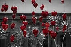 Jardín de corazones. Vidrio soplado.