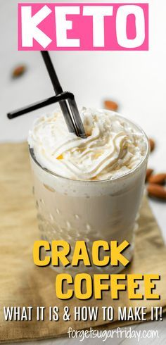 This is the BEST keto coffee! Keto Crack Coffee will get you seriously hoppin' . - This is the BEST keto coffee! Keto Crack Coffee will get you seriously hoppin' in the morning tha - Keto Foods, Ketogenic Recipes, Low Carb Recipes, Diet Recipes, Snack Recipes, Keto Diet Meals, Easy Keto Recipes, Best Keto Meals, Keto Approved Foods