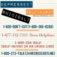 Just say no to depression, suicidal tendencies & self-harm