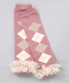 Take a look at this Pink Argyle Ruffle Leg Warmers by Pink Petunia Boutique on #zulily today!