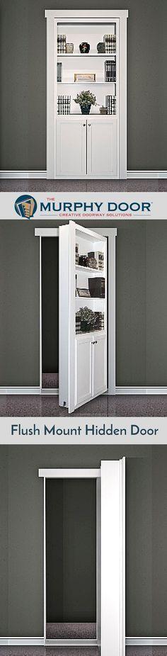 The Flush Mount Hidden door is perfect creative solution for your house.  #hiddendoor
