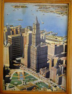 Affiche double face de original Rossignol Vintage Français School New York et Nomades