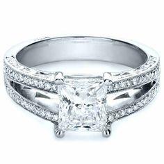 Custom Split Shank Princess Cut Engagement Ring