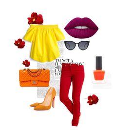 """Brillantes💛"" by loraine-parroquin on Polyvore featuring moda, Chanel, J.Crew, Fendi y Lime Crime"