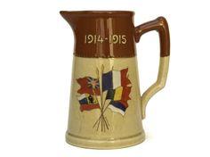 Antique War Memorabilia Pitcher with 1914  1915 by LeBonheurDuJour
