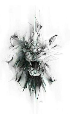 Broken grey geometric lion face tattoo design geometric tattoo special mental symbol of power for denis barcelona if you want tattoo write m barcelona denis geometric mental power special symbol tattoo write Trendy Tattoos, New Tattoos, Body Art Tattoos, Sleeve Tattoos, Cool Tattoos, Tatoos, Future Tattoos, Portrait Tattoo Sleeve, Gemini Tattoos