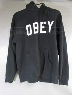 shopgoodwill.com: OBEY Black Pull Over Hoodie Sz M
