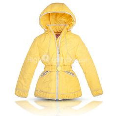 Girl's Kids Yellow Beam Waist Belt Coat Outerwear Winter Warm 134cm . Description: 100% brand new and high quality Beam waist, very stylish and fashion Keep your girl warm in winter and look beautiful and lovely The hooded can be removed Suits for the girls age from 10 to 14 years old  Specification: Material: Nylon, Cotton Size: 134cm Color: Yellow Length: Approx. 22.05inch/56cm (Hooded Not Included) Sleeve length: Approx. 20.87inch/53cm Shoulder: Approx. 13.78inch/35cm Bust: Approx…