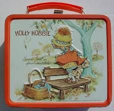Holly Hobbie Lunch Box - If I didn't have this it was a Barbie one! Tin Lunch Boxes, Vintage Lunch Boxes, Metal Lunch Box, Vintage Tins, Vintage Metal, Vintage Stuff, Holly Hobbie, Mary May, Boite A Lunch