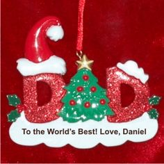 Dad - Personalized Family Christmas Ornament