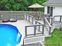 Deck Above Ground Pool Grill.Pool Fence Garden And Outdoors Pool Fence Fence In . Oval Above Ground Swimming Pools With Deck : Oval Above . Above Ground Pool Decks 27 Ft Round Pool Deck Plan Free . Above Ground Pool Fence, Oval Above Ground Pools, Above Ground Pool Landscaping, Above Ground Swimming Pools, In Ground Pools, Swimming Pool Heaters, Swimming Pool Decks, Swimming Pool Landscaping, Landscaping Ideas