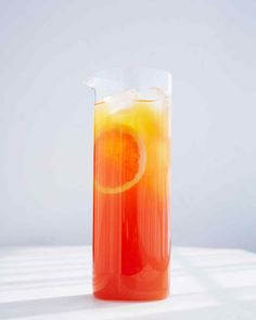 Rooibos Tea and Grapefruit-Ade | Martha Stewart Living - Try this update on the Arnold Palmer: Floral herbal tea combines with bright citrus flavors to create a really refreshing, slightly sweet drink that all can enjoy.