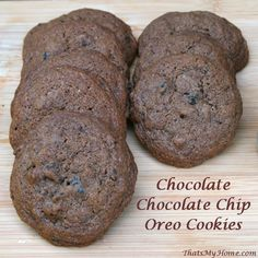 Chocolate Chocolate Chip Oreo Cookies - Recipes, Food and Cooking