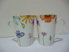 Taza de ceramica pintadas a mano - Vajilla Artesanal - Casa - 11576