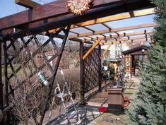 Vordach Bild1 800 Pergola, Outdoor Structures, Garden Ideas, Gardening, Build House, Porch Roof, Garden Cottage, Outdoor Pergola, Lawn And Garden