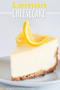 Lemon Cheesecake Recipe This Light and Creamy Dessert Is perfect For Mother's Day! #livingrichwithcoupons