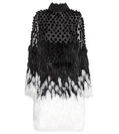 Alexander McQueen Silk And Fur Dress For Spring-Summer 2017