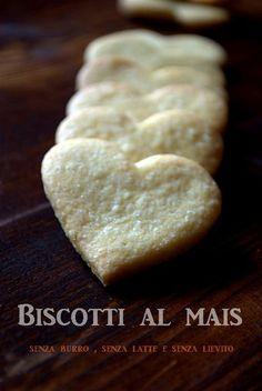 Biscotti al mais , senza burro , senza latte e senza lievito