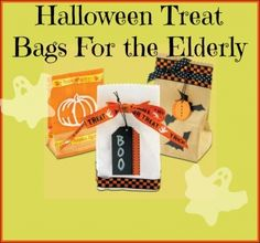 Halloween Treat Bag For An Elderly Lady.  Great for caegiver clients!