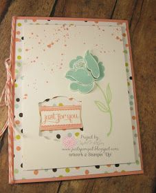Just Sponge It: Simple Stems, Just for You Card