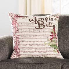 Found it at Wayfair.ca - Jingle Bells Cotton Duck Throw Pillow