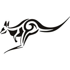 kangaroo tribal art | Tribal Kangaroo Animals Wall ART Stickers Wall Decal Transfers | eBay