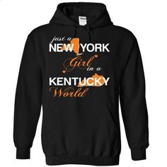 NEWYORK GIRL IN KENTUCKY - #zip up hoodie #sweater for women. I WANT THIS => https://www.sunfrog.com/Valentines/NEWYORK-GIRL-IN-KENTUCKY-Black-Hoodie.html?68278