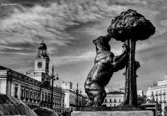 Puerta del Sol, Madrid. El oso y el madroño representan el símbolo y armas heráldicas de la ciudad de Madrid. Photo : Susana Carrasco.