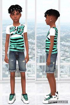 Sim L🧙🏽♂️cker — -Verde Kids/Toddler Jordan Shirt 👕 -Girl. Sims 4 Toddler Clothes, Sims 4 Cc Kids Clothing, Kids Clothes Boys, Toddler Boy Outfits, Kids Outfits Girls, Children Clothing, Sims 4 Male Clothes, Sims 4 Hair Male, Sims 4 Black Hair