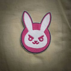 Sew-on patch set - Overwatch D.Va suit and mech logos inspired embroidery -  XX cm / Y in - costume and cosplay prop by SilverclockThreads on Etsy