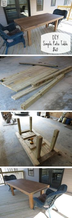 Check out how to build a simple DIY patio table @istandarddesign
