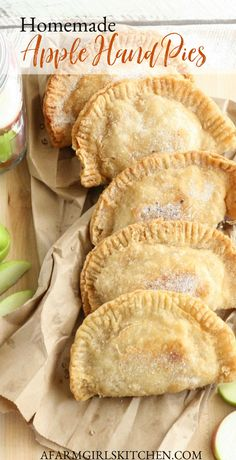 These Fried Apple Hand Pies are made with homemade apple pie filling, pie crust or refrigerated biscuit dough. Delicious homemade apple pie filling (easy to make!) is put inside homemade pie crust. These apple hand pies can be made ahead of time and frozen. #applepie #Southernrecipes #piecrust #pie #pierecipes #appleJacks #applepiefilling
