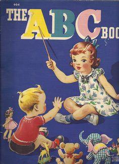Vintage 1940s ABC book. Illustration by Florence Sarah Winship.