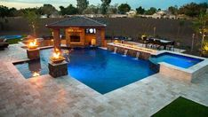 Browse our beautiful, custom built swimming pools and spas. Our designs start with understanding your family and your li… – pool ideas Backyard Pool Landscaping, Backyard Pool Designs, Small Backyard Pools, Swimming Pools Backyard, Pool Spa, Swimming Pool Designs, Lap Pools, Indoor Pools, Small Pools