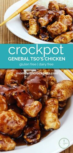 Skip the take out menu and make enough for the whole family for a fraction of the price! Enjoy this Crockpot General Tso's Chicken Recipe! Plus can be made gluten free!