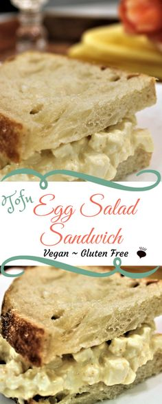 This vegan egg salad if vegan, gluten free, egg free, cholesterol free, and dairy free, but amazingly tastes just like egg salad. thehiddenveggies.com