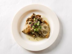 Wild Mushroom Boursin Crespelle, Roasted Mushrooms, Lemon-Thyme Brown Butter by D'Amico Catering, via Flickr